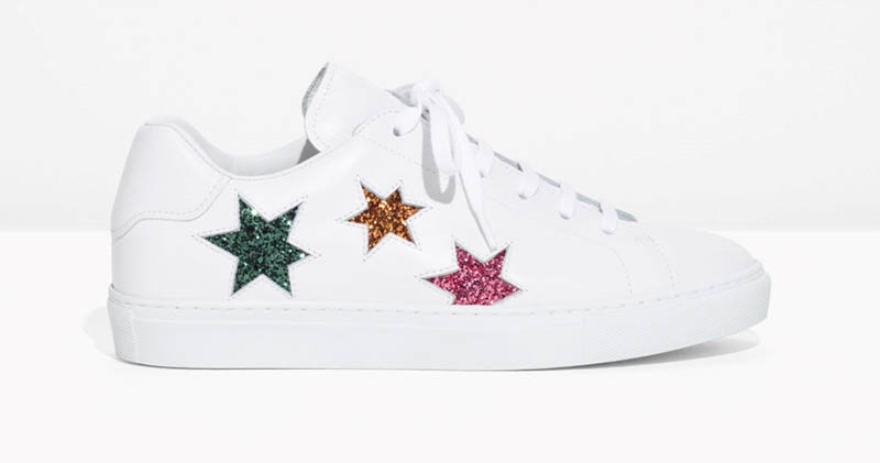 & Other Stories Star Lace-Up Sneakers $63 (previously $125)
