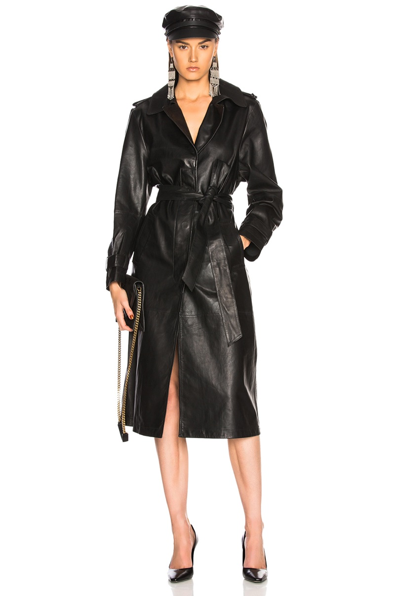 Palmer Girls x Miss Sixty Leather Trench Coat $998