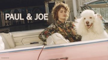 Posing with a poodle, Rose Valentine fronts Paul & Joe's spring-summer 2018 campaign