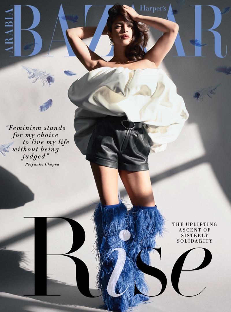 Priyanka Chopra on Harper's Bazaar Arabia February 2018 Cover