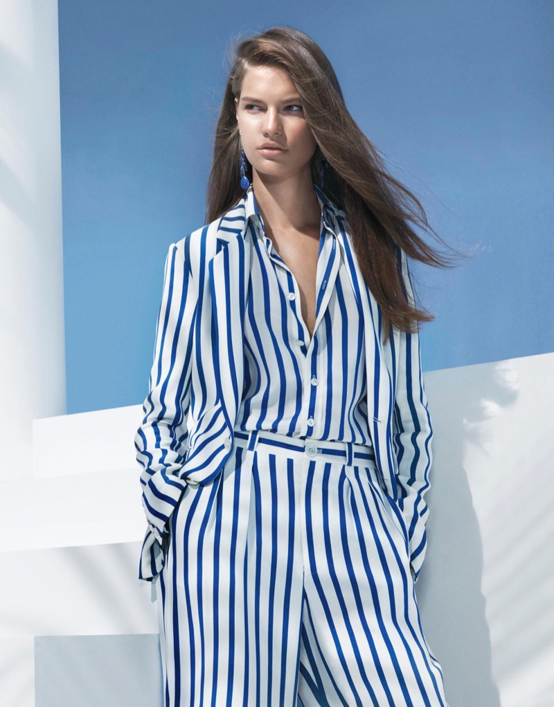 Nautical stripes stand out in Ralph Lauren's spring-summer 2018 campaign