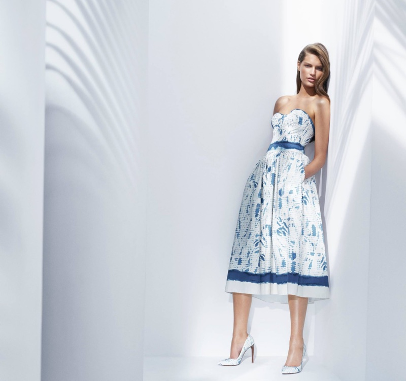 Faretta poses in a printed sundress for Ralph Lauren's spring-summer 2018 campaign