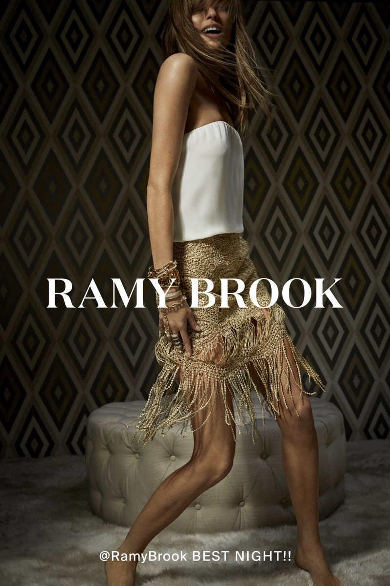 An image from Ramy Brook's spring 2018 advertising campaign with Martha Hunt