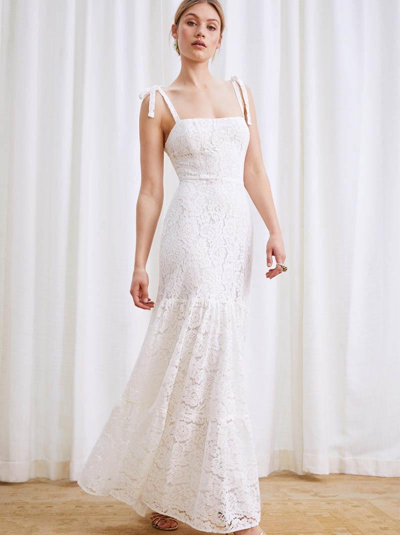 Reformation Dandelion Dress in Ivory $428