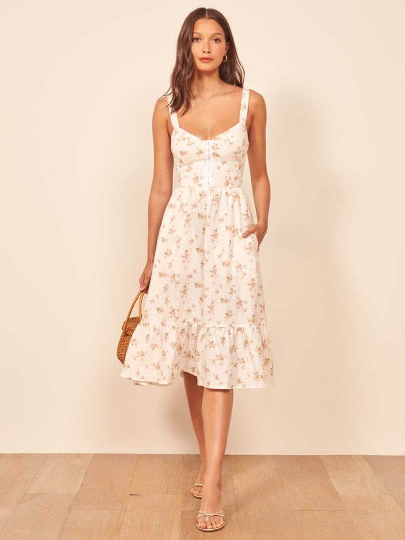 Reformation Dolci Dress in Mildred $248