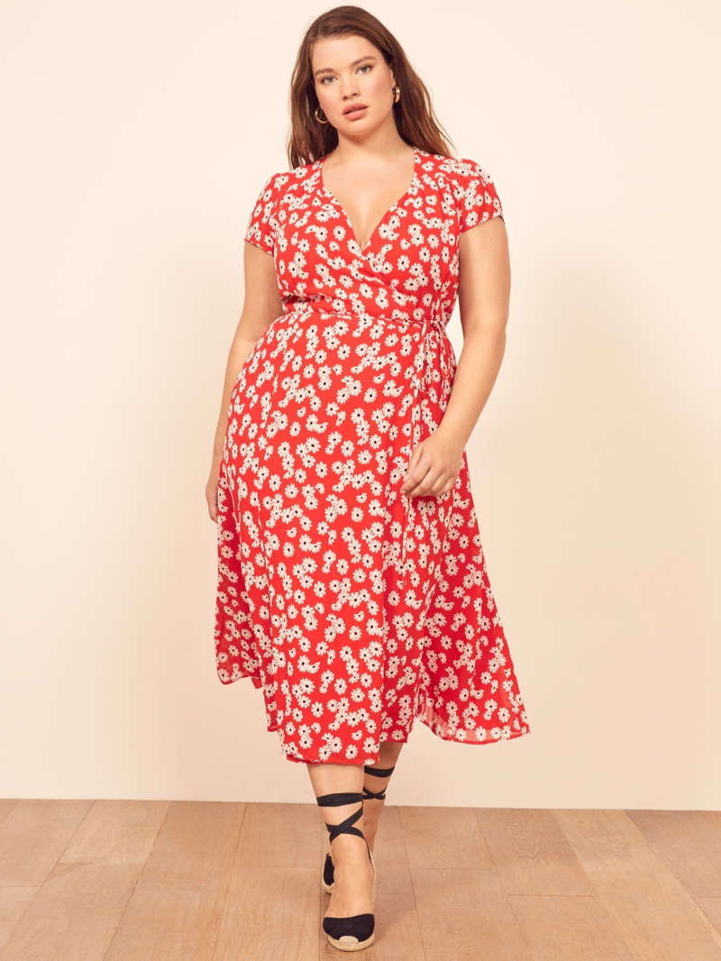 Reformation Extended Sizes Carina Dress in Oopsie Daisy $218