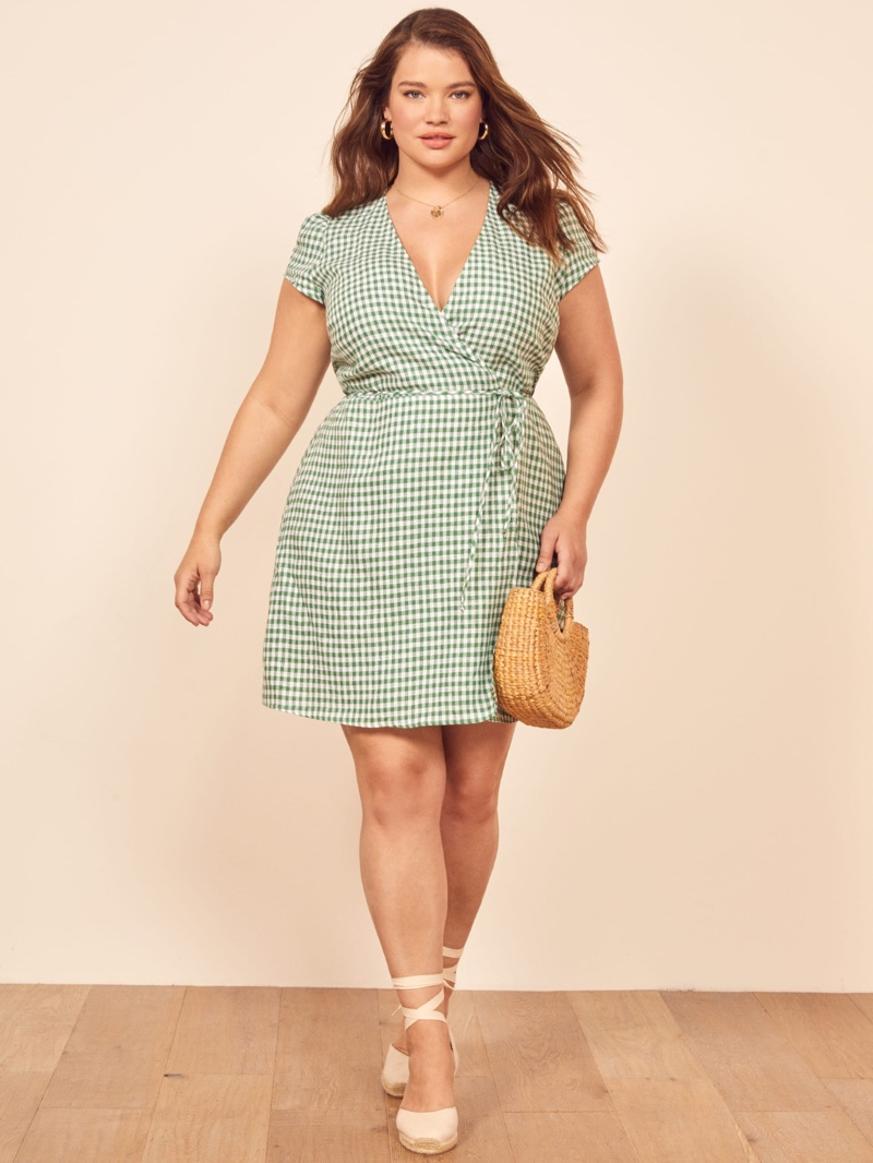Reformation Extended Sizes Rodin Dress in Palms $178