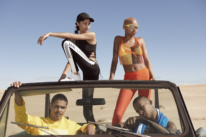 An image from Fenty PUMA's spring 2018 advertising campaign