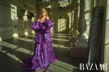 Rosie Huntington-Whiteley Poses in High Fashion Looks for Harper's Bazaar Arabia