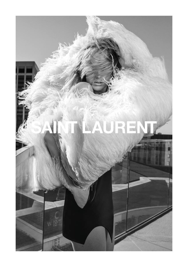 Raquel Zimmermann fronts Saint Laurent's spring-summer 2018 campaign