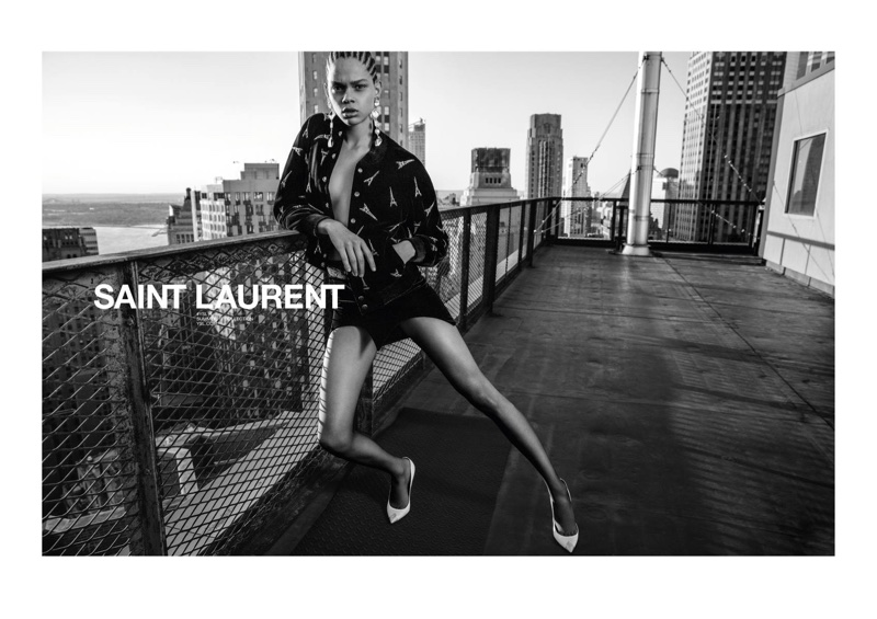 Hiandra Martinez fronts Saint Laurent's spring-summer 2018 campaign