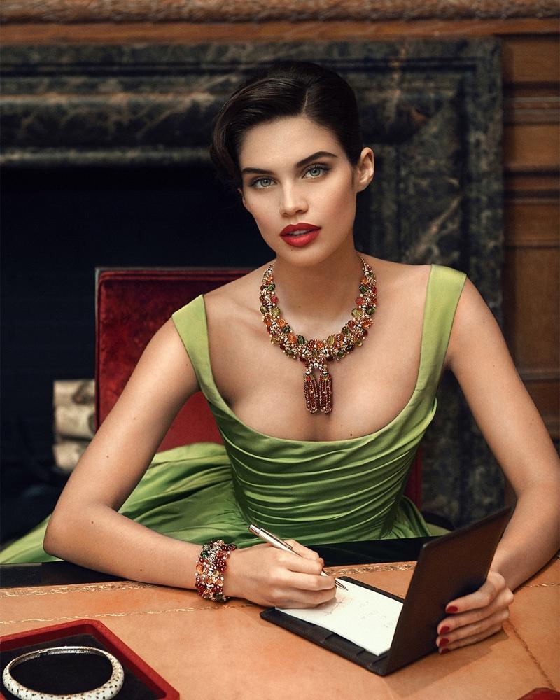 Sara Sampaio Poses in Cartier Gems for Sorbet Magazine