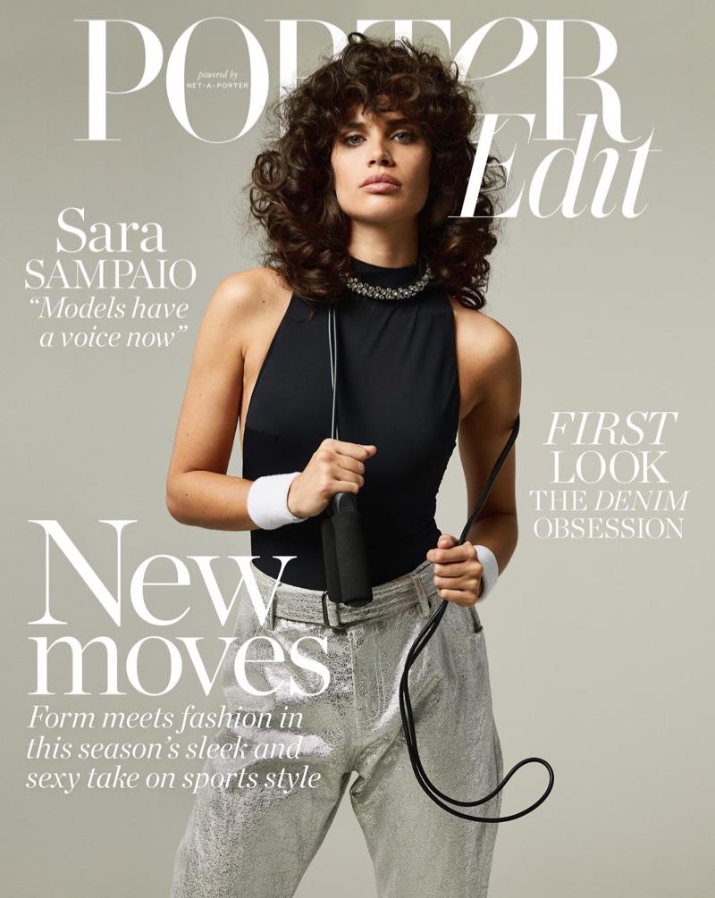 Sara Sampaio Takes On 80's Workout Looks for PORTER Edit
