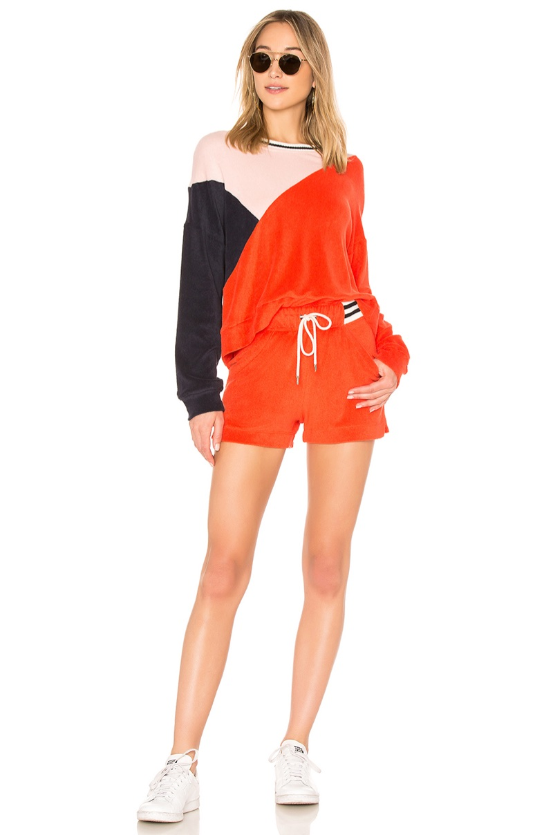 Splendid x Margherita Missoni Sportivo Sweatshirt $128 and Sportivo Short $108