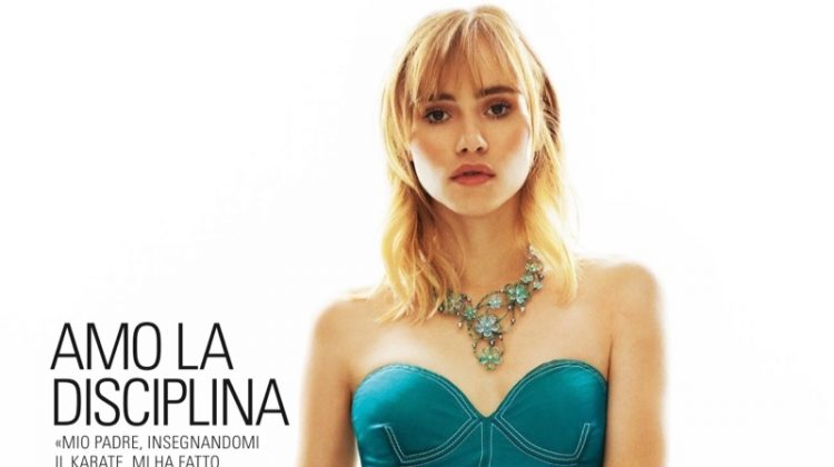 Suki Waterhouse Wears Salvatore Ferragamo's Spring Styles for Grazia Italy