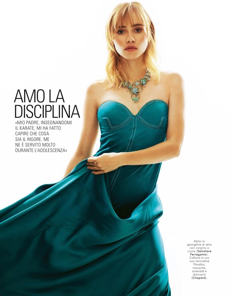 Suki Waterhouse Wears Salvatore Ferragamo's Spring Styles for Grazia Italy