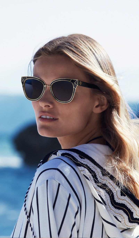 Tory Burch spotlights sunglasses in its resort 2018 campaign