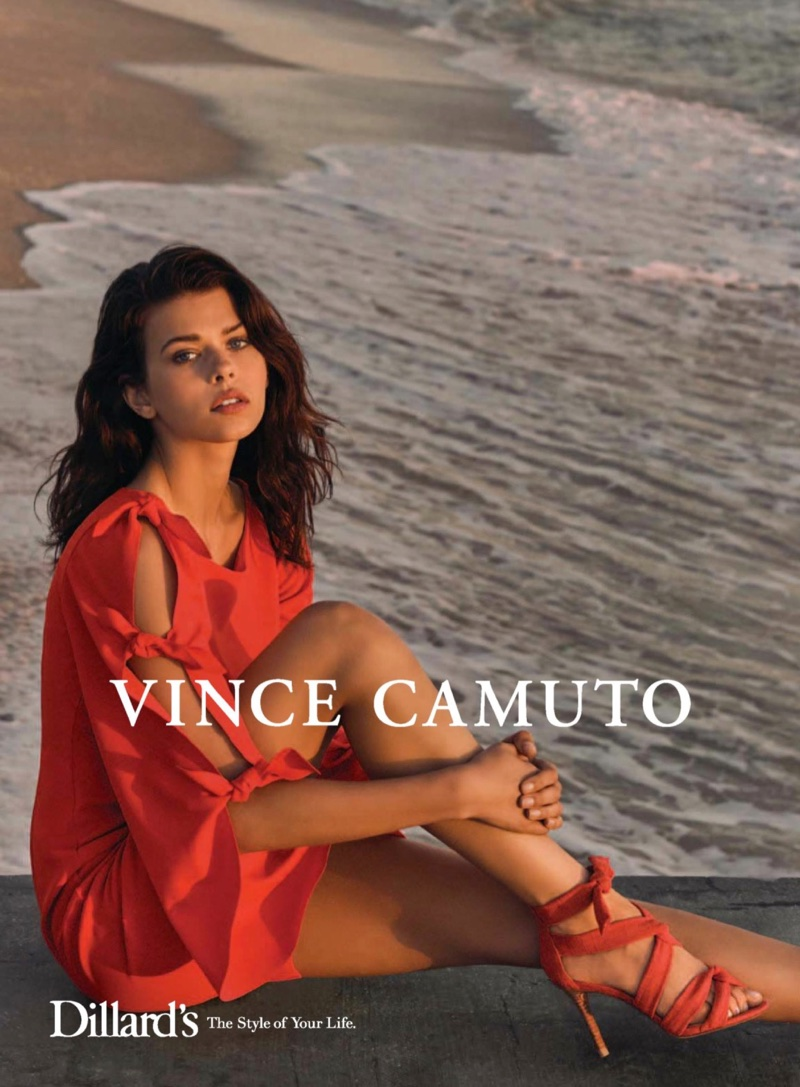 Georgia Fowler stars in Vince Camuto's spring-summer 2018 campaign