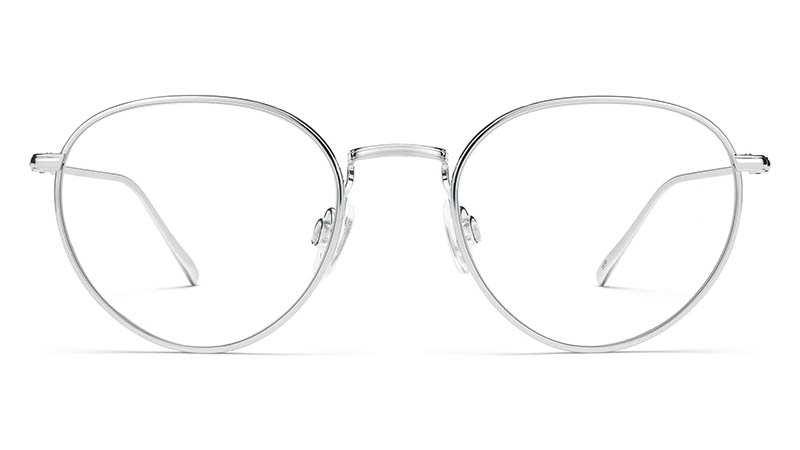 Warby Parker Ezra Glasses in Burnished Silver $195