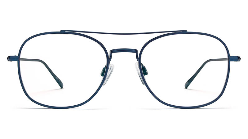 Warby Parker George Glasses in Brushed Navy $195