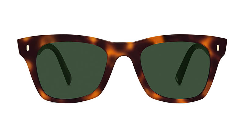 Warby Parker Harris Sunglasses in Oak Barrel with Green-Grey Lenses $95
