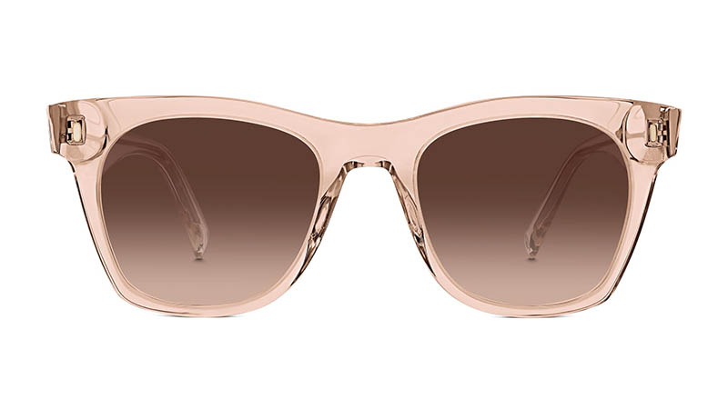 Warby Parker Hunt Large Sunglasses in Paloma Crystal with Brown Gradient Lenses $95