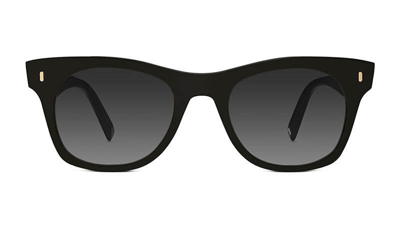 Warby Parker Hunt Sunglasses in Jet Black with Grey Gradient Lenses $95