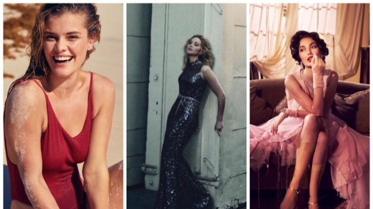 Week in Review | Lily Aldridge as Elizabeth Taylor, Nina Agdal for aerie Swim, Jennifer Lawrence's New Cover + More