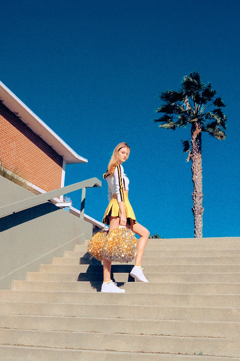 Willow Hand Hits the Field in Cheerleader Styles for ODDA Magazine