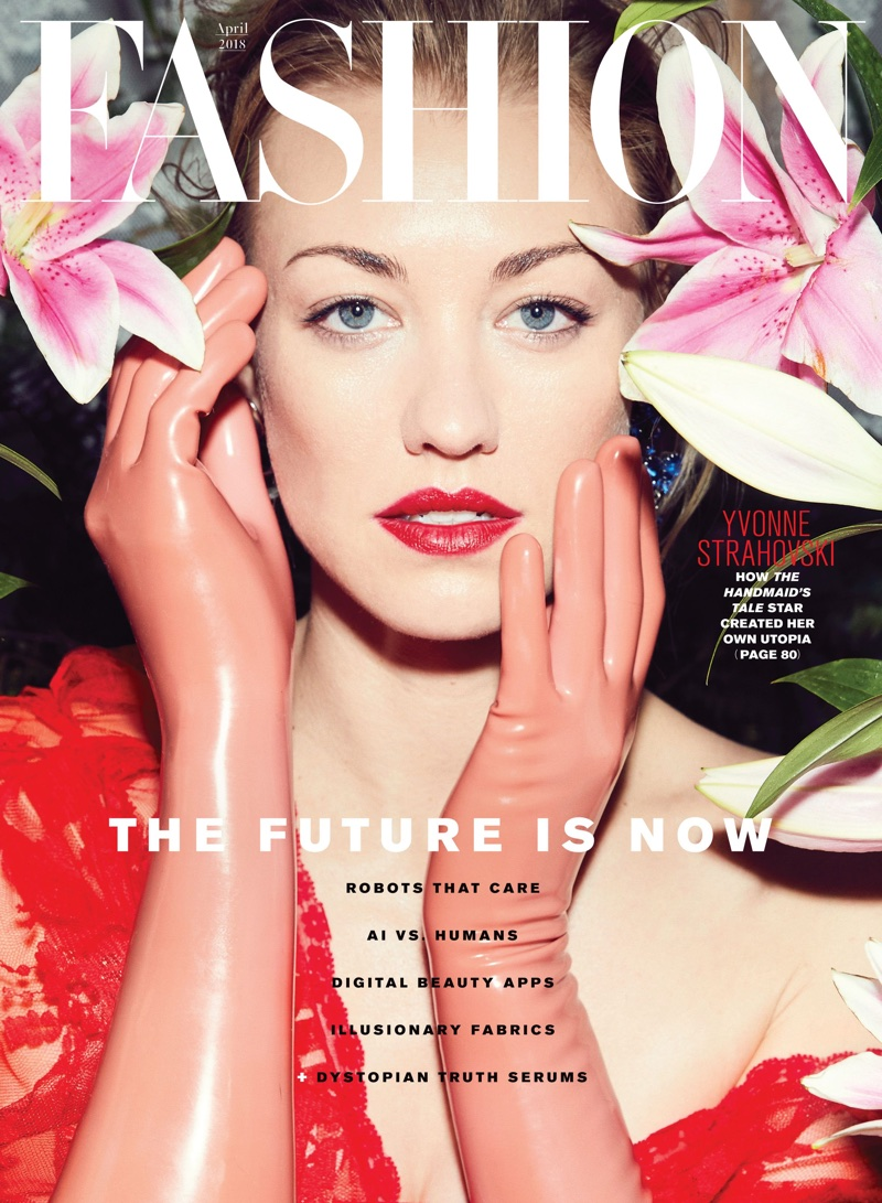 Yvonne Strahovski on FASHION Magazine April 2018 Cover