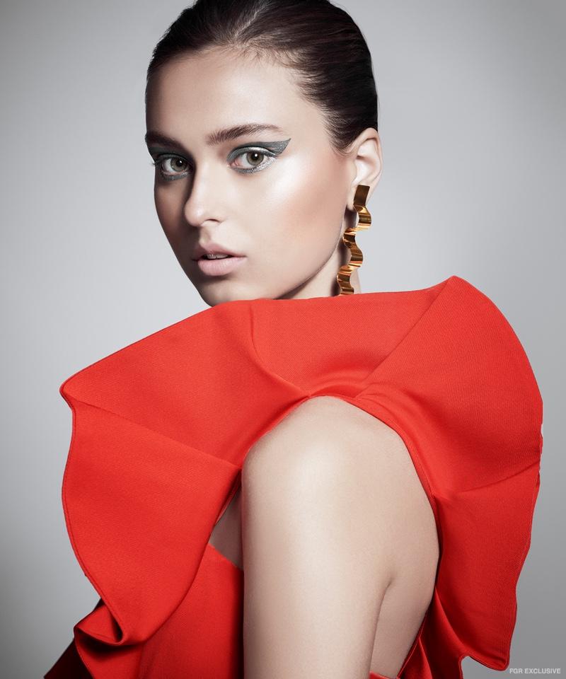 Gold Plated Brass Earring Bia Daidone and Dress Mestiza