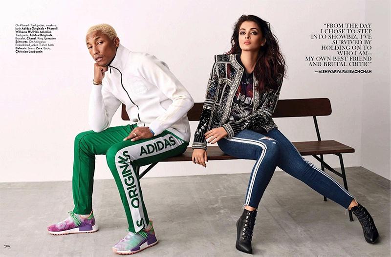 the latest f7f5a bce69 Aishwarya Rai | Pharrell Williams | Vogue India | 2018 ...