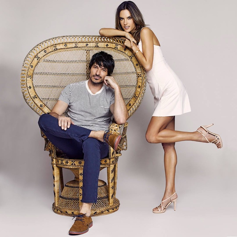 Andres Velencoso and Alessandra Ambrosio front XTI Shoes' spring-summer 2018 campaign