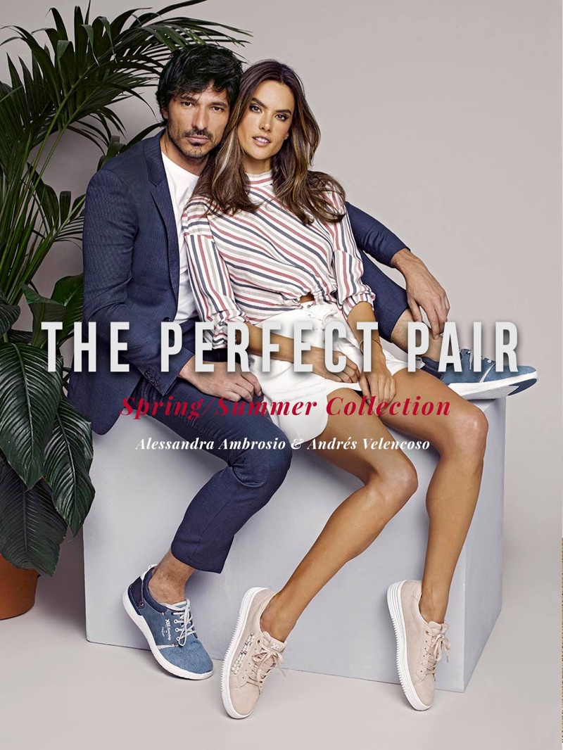 Alessandra Ambrosio cozies up to Andres Velencoso for XTI Shoes' spring-summer 2018 campaign