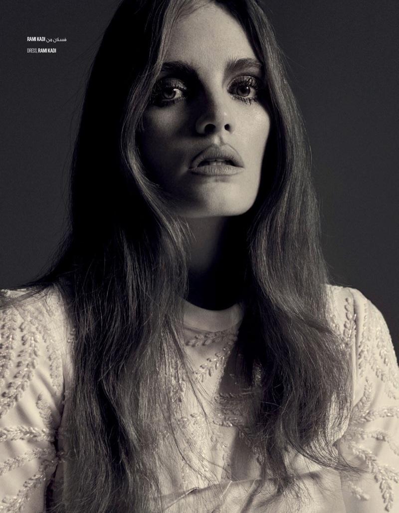 Alexina Graham Vogue Arabia Dress Fashion Editorial