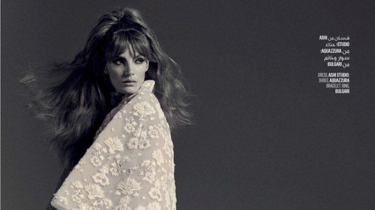 Alexina Graham Models Opulent Dresses for Vogue Arabia