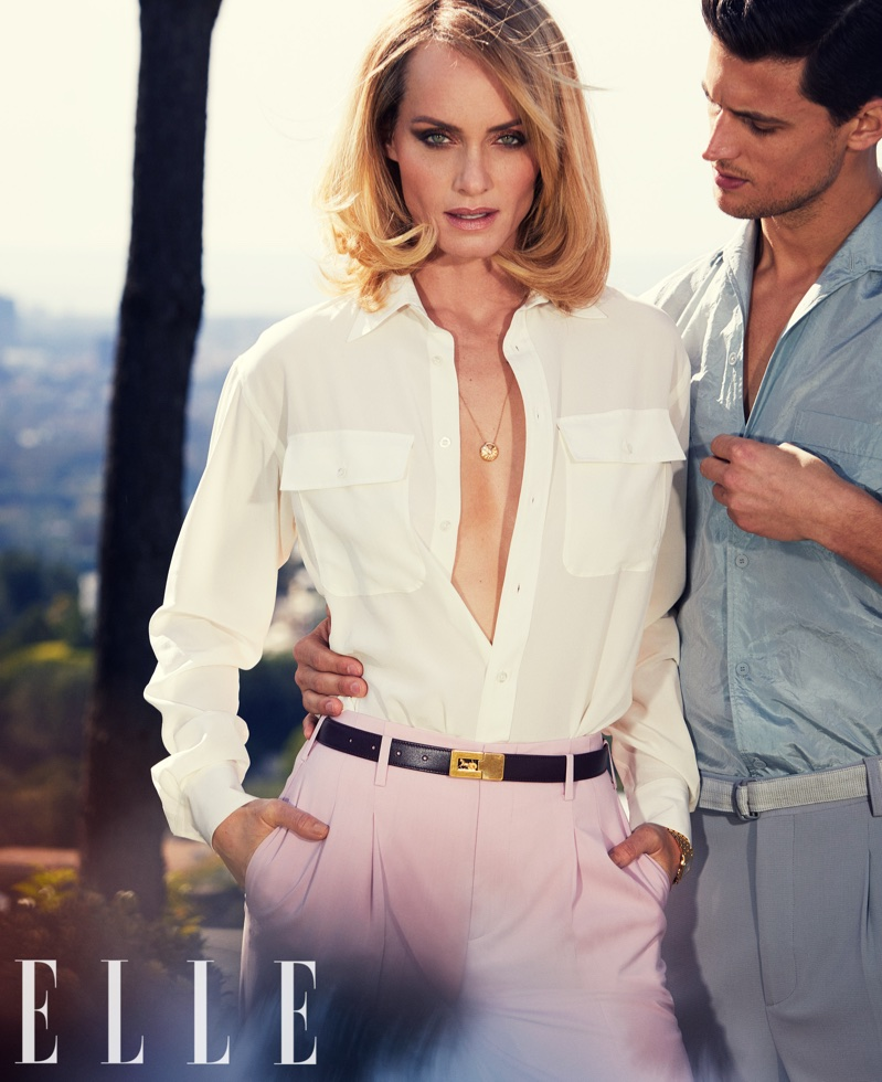 Amber Valletta Models the New Suiting Trends for ELLE