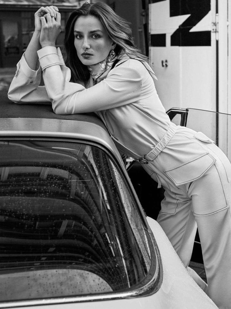 Andreea Diaconu Wears Relaxed Ensembles for Vogue Paris