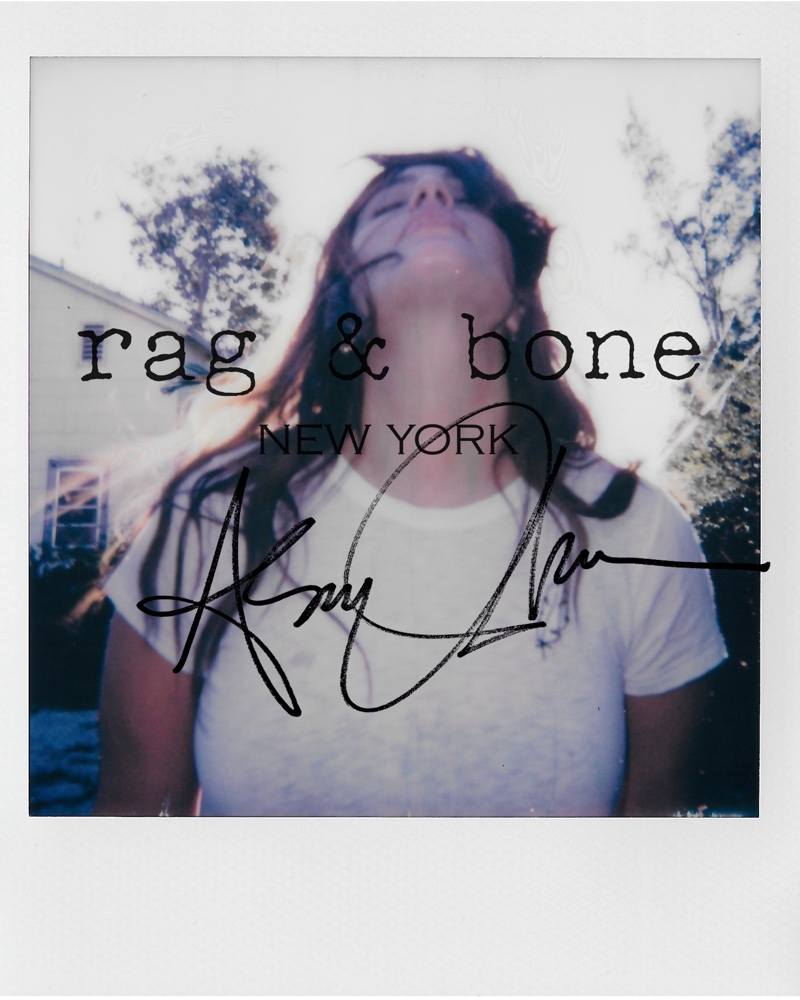 Posing in a polaroid, Ashley Graham fronts Rag & Bone DIY Project