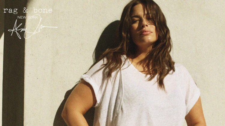 Keeping it casual, Ashley Graham fronts Rag & Bone DIY Project