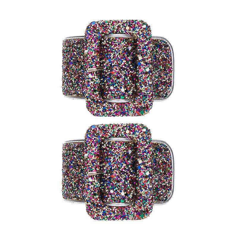 Attico Ankle Cuffs in Glitter $383