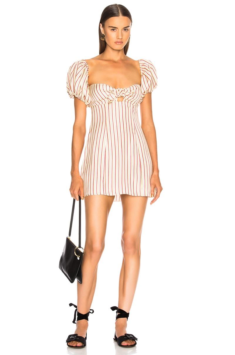 Attico Striped Short Dress $838