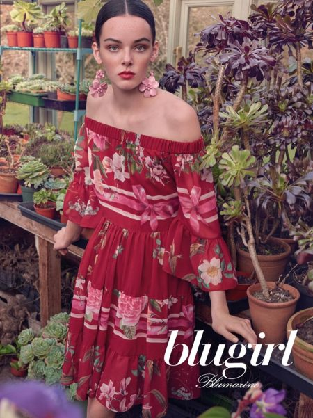 An image from Blugirl's spring 2018 advertising campaign