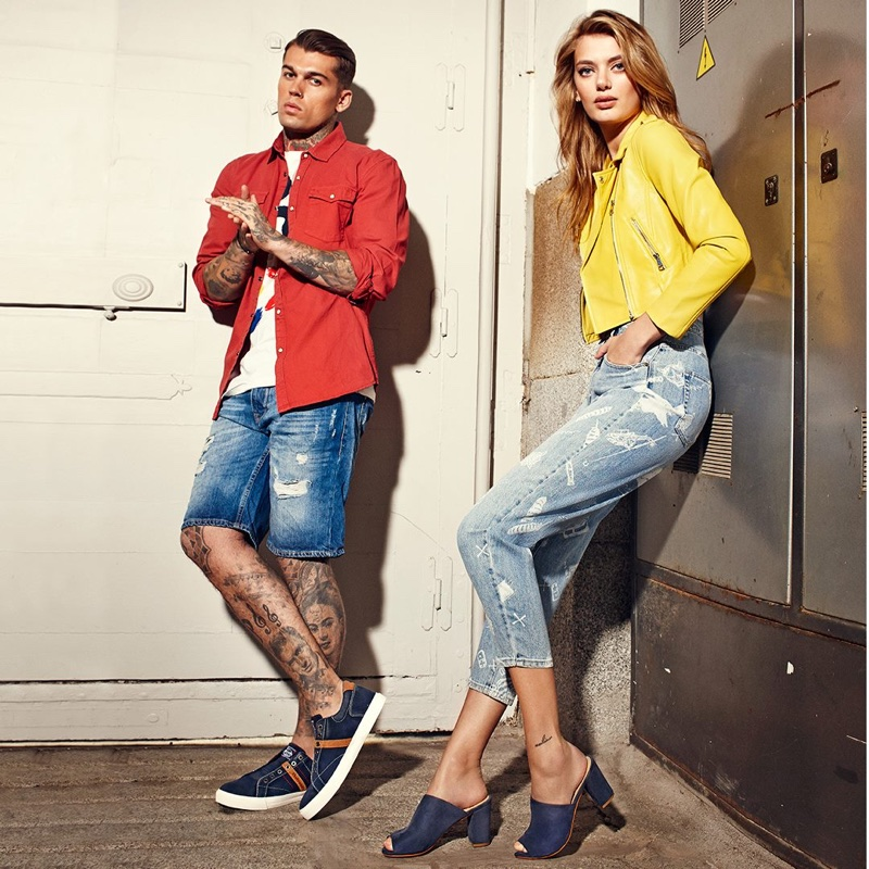 Stephen James and Bregje Heinen front Refresh Shoes's spring-summer 2018 campaign