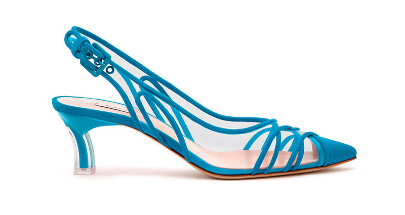 Casadei Kitten Plexi Blade Heels in Sky Blue Marettimo $870
