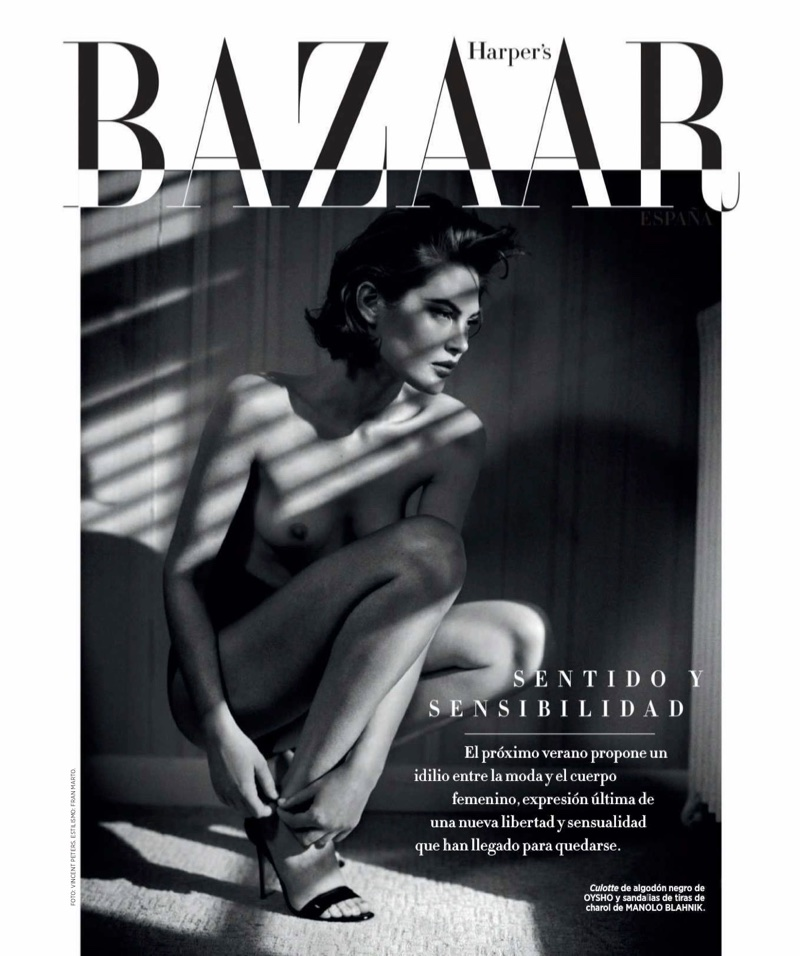 Catherine McNeil Smolders in Sensual Styles for Harper's Bazaar Spain