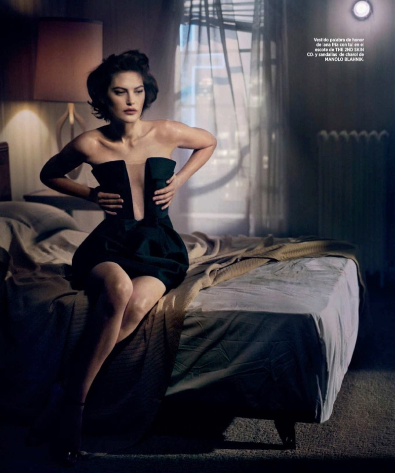 Catherine McNeil Smolders in Sensual Styles for Harper's Bazaar Spain
