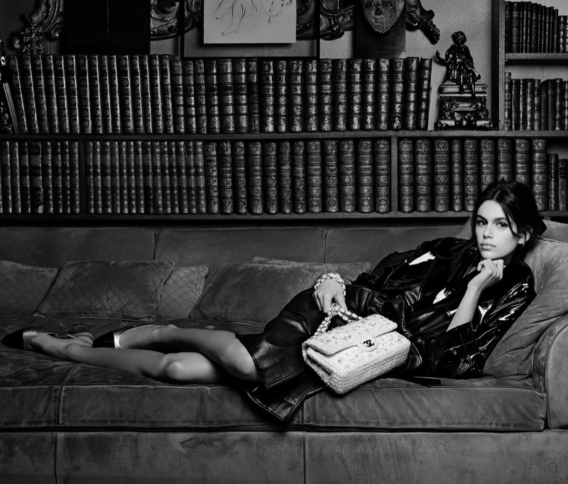 Kaia Gerber for Chanel Handbag spring-summer 2018 campaign