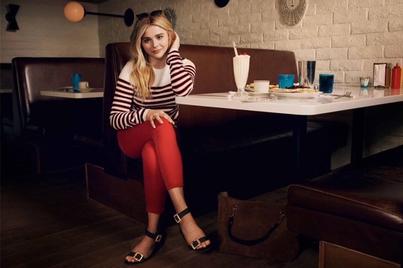 Actress Chloe Grace Moretz models Jimmy Choo Dacha 35 sandals