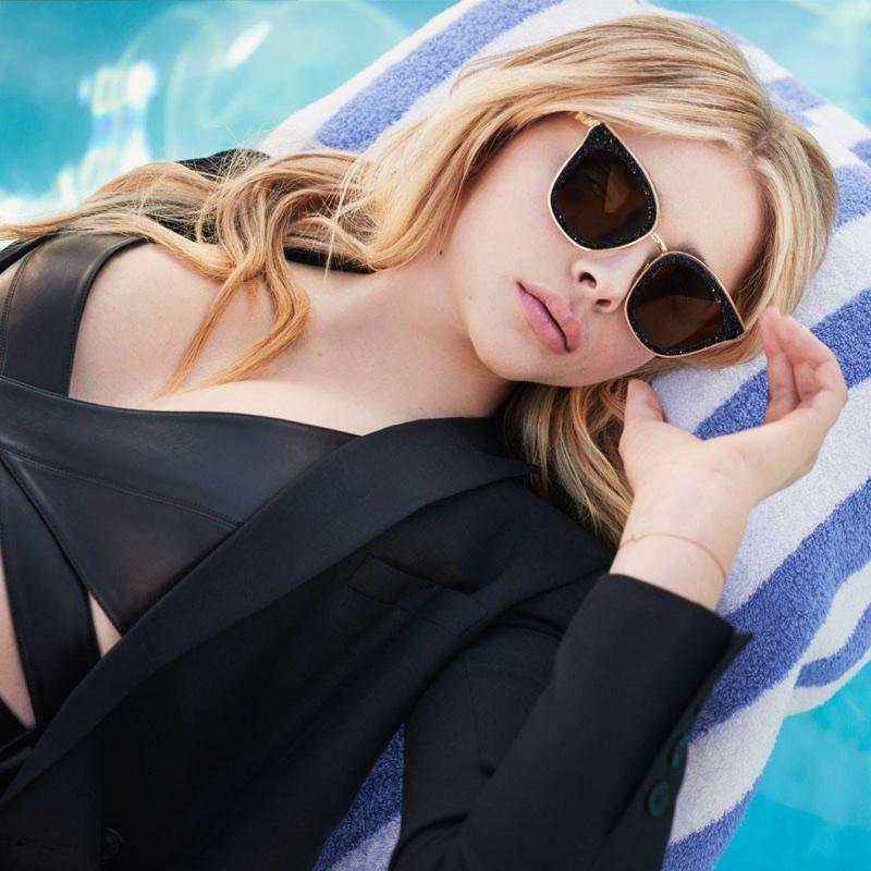 Chloe Grace Moretz wears Lizzy cat-eye sunglasses